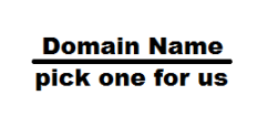 Domain Name - pick one